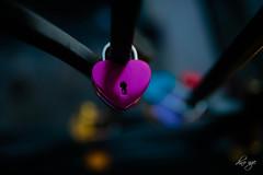 Hiding my heart away (Dino Ngo | +84-936366238) Tags: heart romance lock hiding sad blue art abstracts dino ngo dinongo