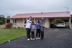Ready to take on the day (Stinkee Beek) Tags: heatherbellcottage leonard erin yewyen tasmania hobart australia ethan