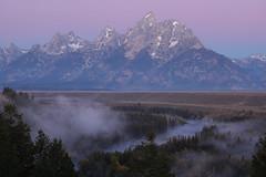 SUNRISE ON THE TETONS (dayvmac) Tags: montana tetons mountains sunrise jacksonhole