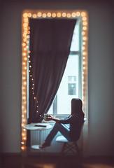 The Secret Window. (www.juliadavilalampe.com) Tags: selfie selfportrait me vienna wien österreich book rain moody europe austria window bokeh canon