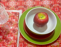 IMG_0709 (milparties) Tags: fabric tablesetting napkins red pink green nature apple table color plates plate crafts proyects setting spoonflower buy greenapple floral floralpattern wire wired pinks