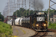 Back on the Main (kcerrato1) Tags: ns norfolk southern sd45 sd452 1703 el bound brook nj railfanning trains leading mainline