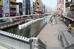 Dotombori Gawa Canal (Bob Hawley) Tags: japan osaka dotombori streetscenes nikond7100 nikon24f28 dotomborigawacanal buildings shopping shops stores cities lanterns bridges