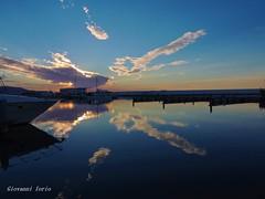 Goodnight (ioriogiovanni10) Tags: buonanotte cielo colori coolpix porto barca nikon specchio mare acqua nuvole sky tramonto