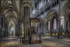 Lincoln Cathedral 7 (Darwinsgift) Tags: lincoln cathederal lincolnshire hdr photomatix 19mm nikkor f4 pc e tilt shift tiltshift multiple exposure nikon d810 cathedral