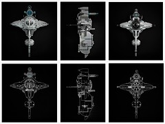 T-wing - blueprints (adde51) Tags: sciencefiction scifi ugly adde51 lego moc starwars space spaceship concept twing art blueprint spec tiefighter foitsop