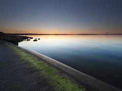 Green stripe of algae in golden light (Jarno Nurminen) Tags: 3stop gndr nisi filter leadinline leadingline finland porvoo balticsea sunset goldenhour archipelago islet island shoreline algae