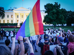 2017.07.26 Protest Trans Military Ban, White House, Washington DC USA 7681