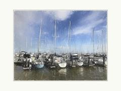 Marina (Krasne oci) Tags: water marina sailboat boats bluesky sky sailing painterly photoart artphotography evabartos
