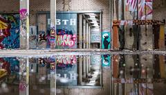 Lost Place I (bennibenniebenny) Tags: lostplaces grafity mirror old erlangen factory hall fabrikhalle fabrik industrie industry leer bayern spiegelung graffiti kunst art color bunt