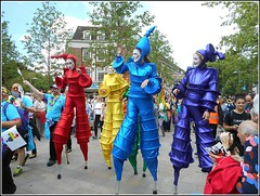 Cheerful and Colourful .. (** Janets Photos **) Tags: uk hull citycentres hullpride events parades colours stiltwalkers