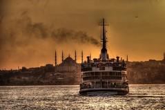 """İstanbul-Sunset (Tünay Kasımoğlu) Tags: ngc istanbul vapur sea deniz ship sunset sonynex6 e55210mm """"flickrtravelaward"""" turkey mosque günbatımı gemi"""