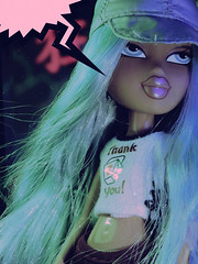 When You Kissed Me, Oh (alexbabs1) Tags: bratz doll cloe passion 4 fashion wave 2 spring 2007 angel loves it slay mama blue hair teal manga anime comic book bitch sassy think speech yelling bubble cool lighting colorful neon yes gawd hehe she did that kids xoxo dont u ever forget either aesthetic sarah palins bangs