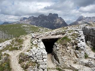 Old war bunker on Monte Piana