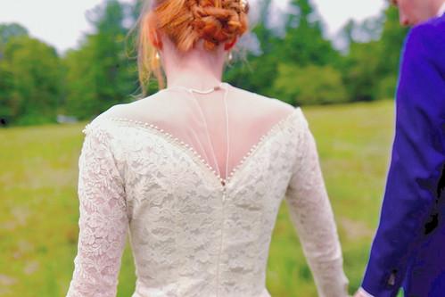 elena marc vintage wedding dress back detail