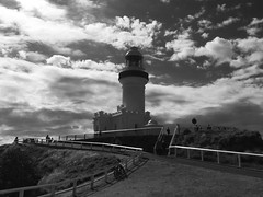 The Byron bay lighthouse (YAZMDG (16,000 images)) Tags: byronbay nsw australia northernrivers lighthouse mono bw monochrome monoesque monochromatic noiretblanc