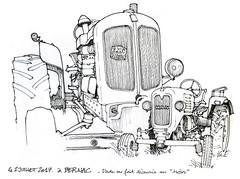 tracteurs Nuffield BMC Diesel et M.A.N (gerard michel) Tags: tracteur ancêtre nuffield man sketch croquis france