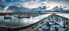 Breskens Harbor (FotoartDH) Tags: hafen breskens holland niederlande zeeland nordsee yachten yacht yachthafen boote boot segelboot segelboote segelschiff segelschiffe meer hafenbecken wasser sonnenuntergang sonne wolken panorama steg bootssteg steine deich rot orange schön abendrot wolkenfront netherlands europe northsea north sea ocean water harbor harbour docks sailing boat sailboat sailingboat marina dusk sunset afterglow red blue photography clouds cloudfront weather reflections danielheine