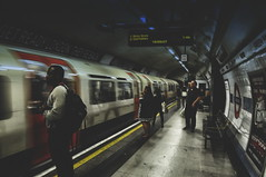 the WaitingTime (Clive Varley) Tags: londonunderground greenparkstation nikond90 availablelight nikcolorefexpro