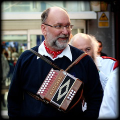 Castagnari (* RICHARD M (Over 6 million views)) Tags: castagnariaccordion accordions accordionist musician musicmaker music musicalinstruments beards bearded bald spectacles specs glasses eyeglasses smiles portraits portraiture candidportraits candidportraiture streetportraits streetportraiture street morrisdancing southportswords liverpool merseyside unescocityofmusic europeancapitalofculture capitalofculture england unitedkingdom uk greatbritain britain accordionplayer neckerchief whiskers bewhiskered entertainer performer morrisdancers baldheaded castagnari squeezebox