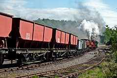 down to the sidings (midcheshireman) Tags: steam staffordshire train locomotive foxfield foxfieldcolliery industrial
