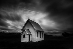 I grew up singing (spannerino) Tags: church blackandwhite blur clouds building architecture longexposure nikond7100 d7100 dx newzealand niksoftware silvereffects filter