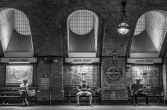 Illuminating Study Baker Street © (wpnewington) Tags: tube platform bakerloo sherlock illuminating light architecture brick underground bakerstreet