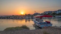 Ready for fishing (pilot3ddd) Tags: turkey mediterraneansea mediterraneancoastofturkey side vacations summer sunset olympuspenepl7 panasoniclumixg1232 boat beach