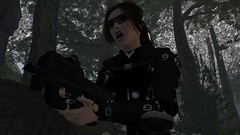I wish there was another way (alexandriabrangwin) Tags: alexandriabrangwin secondlife 3d cgi computer graphics virtual world photography adventure adventurer adventuring black ops soldier fn p90 sub machine gun aiming yelling deep dark forest gear shiny latex catsuit corset buckles straps armor oakleys trees canopy tactical reflex sight