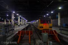 IMechE at Euston (Cosmo's Train & Gig Photos) Tags: brush class92 gbrf caledoniansleeper wcml eus london euston londoneuston westcoastmainline 92032 longexposure dyson gbrailfreight imecherailwaydivision europorte