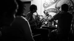Irish pub music - Galway, Ireland - Black and white photography (Giuseppe Milo (www.pixael.com)) Tags: night fun galway people artists seisiun beer pub crane flute players blackandwhite irish ireland music session bar countygalway ie onsale