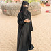 dressed with Abaya
