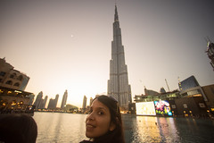 Burj Khalifa at sunset (tesKing (Italy)) Tags: abudhabi burjkhalifa dubai sunset emiratiarabi sandra uae emiratiarabiuniti ae