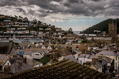 Dartmouth and Kingswear (Rookie Phil) Tags: roofs rooftops stsaviourschurch dartmouthcastle devon dartmouth kingswear dart riverdart boats yachts marina outdoor hillsides trees houses pastels scenic pretty picturesque darkclouds cloudysky rivermouth estuary thesea englishchannel quaint english historictown 2401200mmf40 d750 nikond750