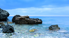 ... The Ocean ... (Device66.) Tags: localscape seascape mediterranean sea device volcanicrocks remains ofthepast altea