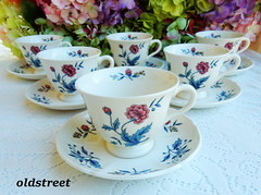 Wedgwood Cups & Saucers ~ Williamsburg Potpourri (Donna's Collectables) Tags: wedgwood cups saucers ~ williamsburg potpourri