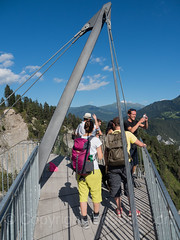 Il Spir Observation Tower, Flims-Conn, Grisons, Switzerland (jag9889) Tags: 2017 20170716 aerialview anteriorrhine architecture building ch cantonofgraubunden europe flem flims gr gorge grandcanyonderschweiz graubunden grisons helvetia house imboden kantongraubünden observationtower outdoor outlook people platform reinanteriur rheinschlucht rhinegorge rock ruinaulta schweiz structure suisse suiza suizra svizzera swiss swissgrandcanyon switzerland tower visitor vorderrhein jag9889 panoramic viewing