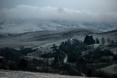 Home misty home (Vagabundina) Tags: nikon nikond5300 dsrl atmosphere ambience zlatibor srbija serbia mountain hills village mist moody mood landscape scenery nature cold wind weather white green snow clouds storm