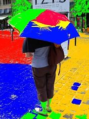 2017-07-24 umbrella (april-mo) Tags: digitalart colours experimentaltechnique creative umbrella parapluie