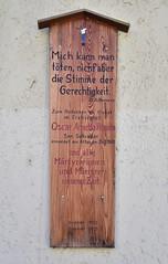 """""""Mich kann man töten, nicht aber die Stimme der Gerechtigkeit."""" (Oscar Romero) (peterwoelwer) Tags: passau bayern bavaria deutschland germany donau inn schwarzeilz ilz"""