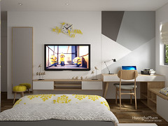 Trang's house (full apartment) Mullberry Lane HaĐong.Hn (HuonghaPham) Tags: huonghapham furniture design interior livingroom room phòng khách yellow tablle dinner bedroom bed chair