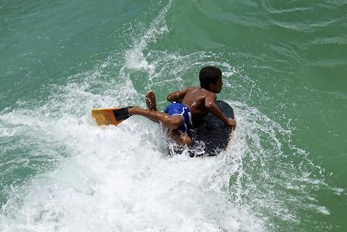 Bodyboard at Leme beach