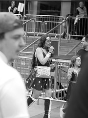 #YEAH (slavamanc) Tags: comiccon funny city street dressup fancydress manchester urban monochrome blackwhite superwoman portrait candid festival smoking people takumar