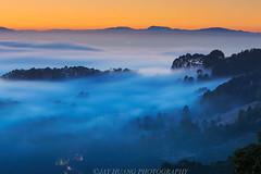 Fog Blanket (Jaykhuang) Tags: lowfog sunset summer hills trees bluehour berkeley grizzlypeak jayhuangphotography sanfrancisco bayarea california