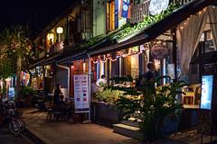DSCF5802 (Deepak Kaw) Tags: night lights luangprabang laos street colours composition activity people