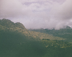 All the Grain (H o l l y.) Tags: lomography kodak trimlite grain analog film landscape nature clouds mountains sky desert red rock canyon retro indie vintage 110mm