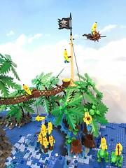 19598566_1507072156022182_4291566462253122421_n (PUISSANCE BRICK) Tags: lego minifigs minifig afol bricks collectable island paradise hotdog shark maïs popcorn sausage saucisse banana banane puissancebrick sea ocean