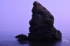 long exposition (jlmm_morales) Tags: hora azul blue hour larga exposicion long exposition seda silk paisaje landscape playa beach maro nerja malaga andalucia españa spain nikon d5100