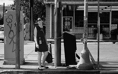 In Need Of A Vacation (burnt dirt) Tags: houston texas downtown city town street sidewalk crosswalk girl woman man people person couple group crowd asian latina cute sexy laugh smile jeans dress shorts skirt yogapants tights leggings stockings friend longhair shorthair ponytail heels stilettos boots shadow blonde brunette reflection athlete construction traffic lunch office building worker streetphotography documentary portrait fujifilm xt1 bw blackandwhite bike bicycle model young tattoo metro bus busstop train trainstop glasses sunglasses
