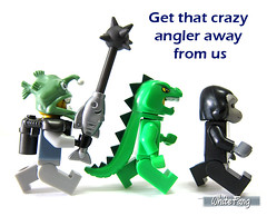 Get that crazy angler away from us (WhiteFang (Eurobricks)) Tags: lego collectable minifigures series city town space castle medieval ancient god myth minifig distribution ninja history cmfs sports hobby medical animal pet occupation costume pirates maiden batman licensed dance disco service food hospital child children knights battle farm hero paris sparta historic ninjago movie sensei japan japanese cartoon 20 blockbuster cinema